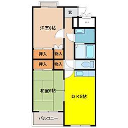 デュオス・シノンA棟[2階]の間取り