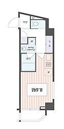 アートアパートメント IN 東京 ノース 2階1Kの間取り