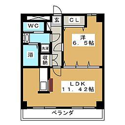 ドンクマサパートIビル[9階]の間取り