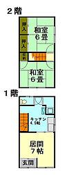 fujiコーポ[1階]の間取り