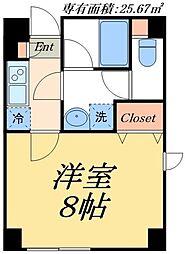 東武伊勢崎線 とうきょうスカイツリー駅 徒歩4分の賃貸マンション 1階1Kの間取り