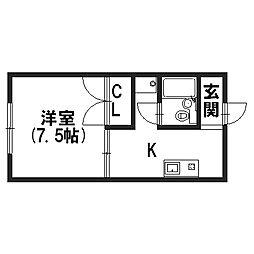 プロパティ99[2階]の間取り