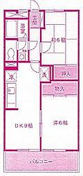 ファミール中野島[3階]の間取り