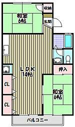サン・セーヌI[1階]の間取り