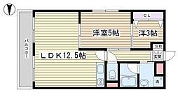 第2古河ガーデンマンション[301号室]の間取り
