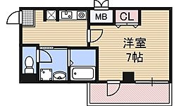 IF西梅田[3階]の間取り