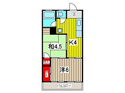 マンション吉川[303号室]の間取り