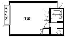 ステージ香枦園[201号室]の間取り