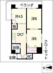 第3宮地マンション記念橋[9階]の間取り