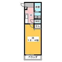 ファンロジュマンII[1階]の間取り