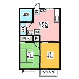 リックスハイツ  101[2階]の間取り