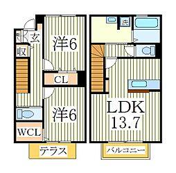 コンフォートE[2階]の間取り