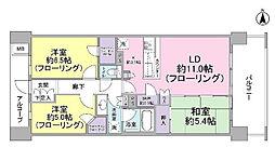 千葉県習志野市奏の杜2丁目の賃貸マンションの間取り