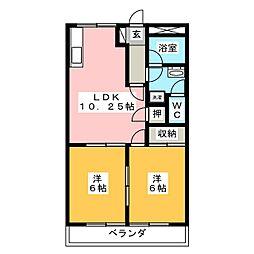 サンハイムシバ[2階]の間取り