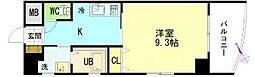 広島県呉市中央3丁目の賃貸マンションの間取り