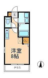 千葉県松戸市南花島1丁目の賃貸アパートの間取り