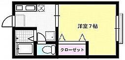 メゾンフラット[2-B号室]の間取り