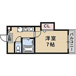 ラ・ビスタ暁[3階]の間取り
