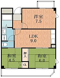 サンシャイン昭和[4階]の間取り