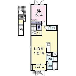 ルトンセランIII[2階]の間取り
