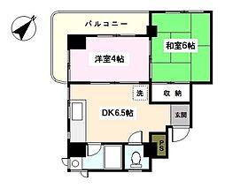 神奈川県横浜市西区浅間町2丁目の賃貸マンションの間取り