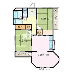 田端マンション[1階]の間取り