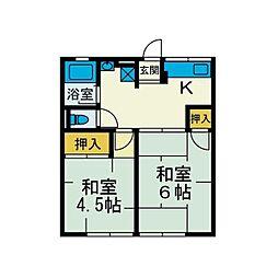 成瀬ハイツII[2階]の間取り
