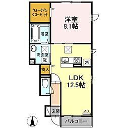 神奈川県相模原市緑区相原2丁目の賃貸アパートの間取り