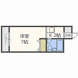 北海道札幌市中央区北六条西25丁目の賃貸マンションの間取り