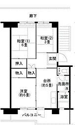 泉北原山台団地[3階]の間取り