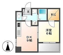名駅オータケビル[7階]の間取り