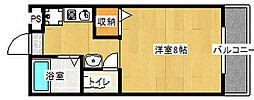ツインホースII[210号室]の間取り