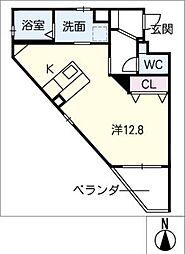仮)幸田駅西マンション 1階ワンルームの間取り