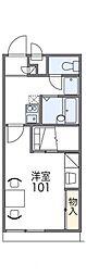 レオパレスムジカ[2階]の間取り