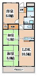 野崎駅前ビル[3階]の間取り