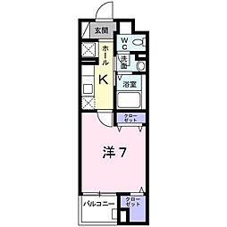 東京都八王子市東浅川町の賃貸マンションの間取り