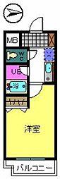 ベルデ堺東[4階]の間取り
