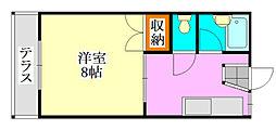 コーポ川島第三[103号室]の間取り