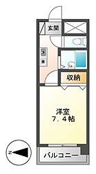 プラスオーツービル[3階]の間取り