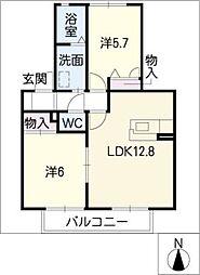 プレミールTK[2階]の間取り