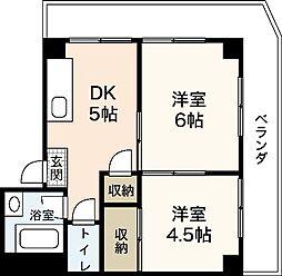 レーベンカワムラ[1階]の間取り