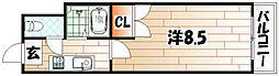 アリビオ黒崎[306号室]の間取り