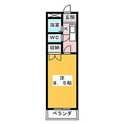 第7田畑ハイツ[3階]の間取り