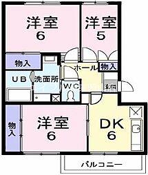 岡山県岡山市中区平井3丁目の賃貸マンションの間取り