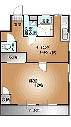 栃木県宇都宮市東宿郷3丁目の賃貸マンションの間取り