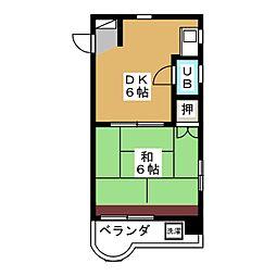 白陽ビル[2階]の間取り
