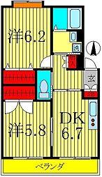 パークサイドマンション・ハル[2階]の間取り