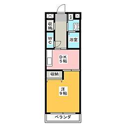 グレース島田本町[4階]の間取り