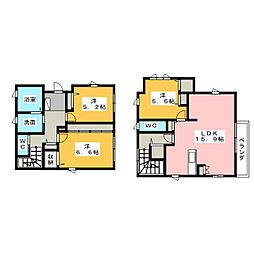 [一戸建] 静岡県浜松市中区和合北2丁目 の賃貸【/】の間取り