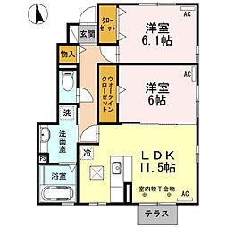 [テラスハウス] 静岡県浜松市中区住吉3丁目 の賃貸【/】の間取り